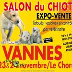 Salon du chiot à Vannes (56), du samedi 23 au dimanche 24 novembre 2013