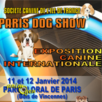 """Exposition canine internationale """"Paris Dog Show"""" à Vincennes (75), du samedi 11 au dimanche 12 Janvier 2014"""