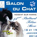 Salon du chat à Nogent sur Marne (94), du samedi 18 au dimanche 19 janvier 2014