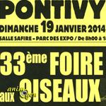 33 ème Foire aux oiseaux à Pontivy (56), le dimanche 19 janvier 2014