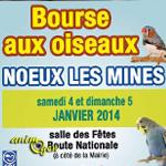 Bourse aux oiseaux à Noeux les Mines (62), du samedi 04 au dimanche 05 janvier 2014