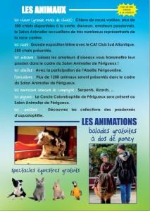 4 ème Salon animalier à Périgueux (24), du samedi 07 au dimanche 08 décembre 2013