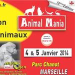 """10 ème Salon des animaux """"Animal Mania"""" à Marseille (13), du samedi 04 au dimanche 05 janvier 2014"""