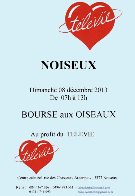 Bourse aux oiseaux à Noiseux (Belgique), le dimanche 08 décembre 2013