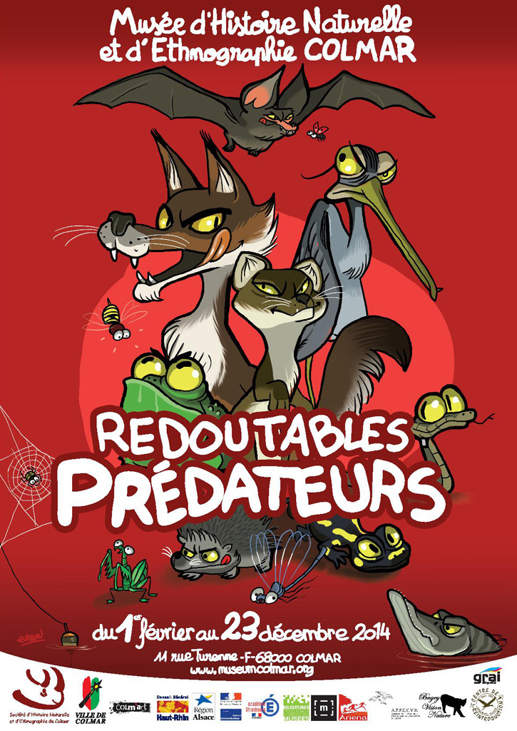 Exposition «Redoutables prédateurs» à Colmar (68), du samedi 01 er février au mardi 23 décembre 2014