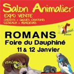 3 ème Salon animalier « Animal Focus » à Romans sur Isère (26) du samedi 11 au dimanche 12 janvier 2014