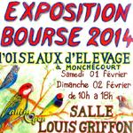 Exposition bourse d'oiseaux d'élevage à Monchecourt (59), du samedi 01 au dimanche 02 février 2014