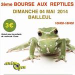 2 ème Bourse aux reptiles à Bailleuls (59), le dimanche 04 mai 2014