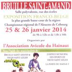 19 ème Exposition avicole  à Bruille Saint Amand (59) du samedi 25  au dimanche 26  janvier 2014
