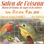 Salon de l'oiseau, bourse d'oiseaux de cages et de volières à Muret (31), du samedi 08 au dimanche 09 février 2014