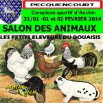 35 ème Salon des animaux à Pecquencourt (59) du vendredi 31 janvier au dimanche 02 février 2014