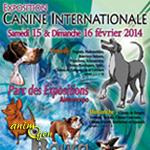 Exposition Canine Internationale à Bourg en Bresse (), du samedi 15 au dimanche 16 février 2014
