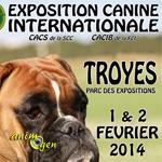 Exposition canine internationale à Troyes (10), du samedi 01 au dimanche 02 février 2014