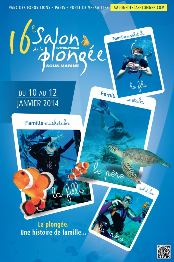 16 ème Salon international de la plongée sous-marine à Paris (75), du vendredi 10 au dimanche 12 janvier 2014