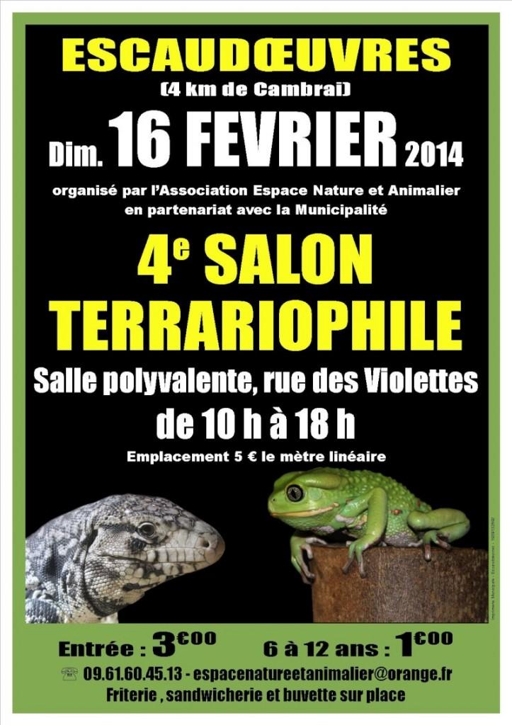 4 ème Salon terrariophile à Escaudoeuvres (59), le dimanche 16 février 2014