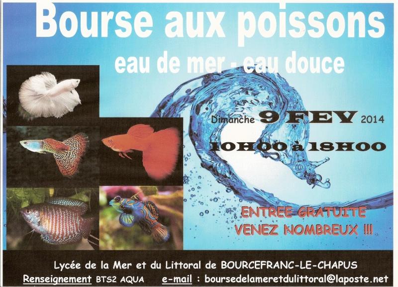 Bourse d'aquariophilie à Bourcefranc le Chapus (17), le dimanche 09 février 2014
