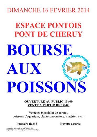 Bourse aux poissons à Pont De Cheruy (38), le dimanche 16 février 2014