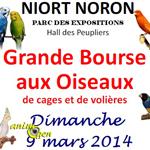 Bourse aux oiseaux à Niort-Noron (79), le dimanche 09 mars 2014