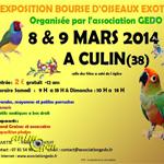 Exposition-bourse d'oiseaux exotiques à Culin (38), samedi 08 et dimanche 09 mars 2014