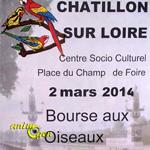 Bourse aux oiseaux à Châtillon sur Loire (45), le dimanche 02 mars 2014