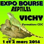 Exposition-bourse aux reptiles à Vichy (03), du samedi 01 er au dimanche 02 mars 2014