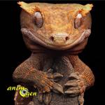 Le Gecko à crête, ou gecko à cils, ou Rhacodactylus ciliatus