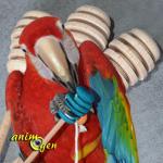 Jouet de patte pour perroquet : cuillère à miel hochet