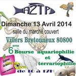 6 ème Bourse aquariophile et terrariophile à Villers Bretonneux (80), le dimanche 13 avril 2014