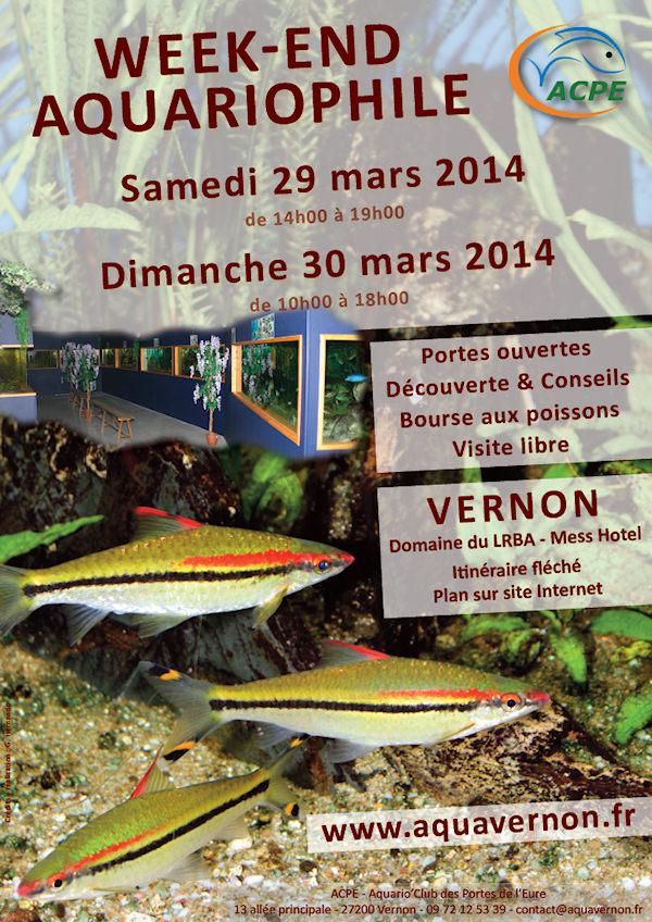 Bourse aux poissons et week-end portes-ouvertes à Vernon (27), du samedi 29 au dimanche 30 mars 2014