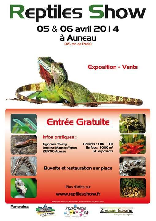 Reptiles Show à Auneau (28), du samedi 05 au dimanche 06 avril 2014