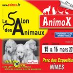 11 ème Salon animalier « Anîmox » à Nîmes (30) du samedi 15 au dimanche 16 mars 2014
