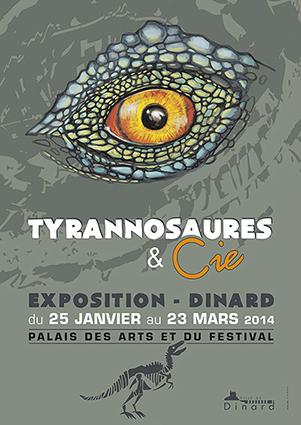 """Exposition """"Tyrannosaures & Cie"""" à Dinard (35), du samedi 25 janvier au dimanche 23 mars 2014"""