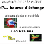 17 ème Bourse aquariophile d'échange à La Milesse (72), le dimanche 06 avril 2014