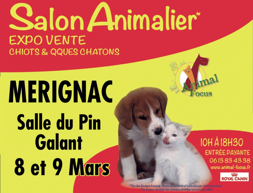 35 me salon animalier animal focus m rignac 33 du samedi 08 au dimanche 09 mars 2014. Black Bedroom Furniture Sets. Home Design Ideas