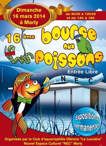 16 ème Bourse aux poissons à Marly (57), le dimanche 16 mars 2014