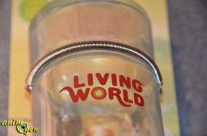 Abreuvoir en verre et son support de bois, pour lapins et rongeurs (Living World)