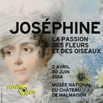 """Exposition """"Joséphine, la passion des fleurs et des oiseaux"""" à Malmaison (92), du mercredi 02 avril au lundi 30 juin 2014"""