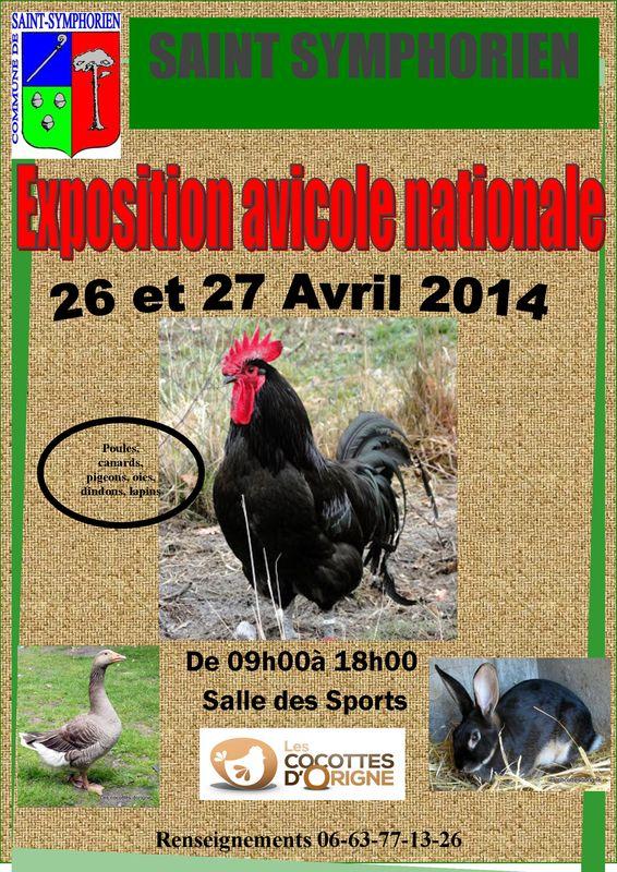 Exposition avicole nationale à Saint Symphorien (33), du samedi 26 au dimanche 27 avril 2014