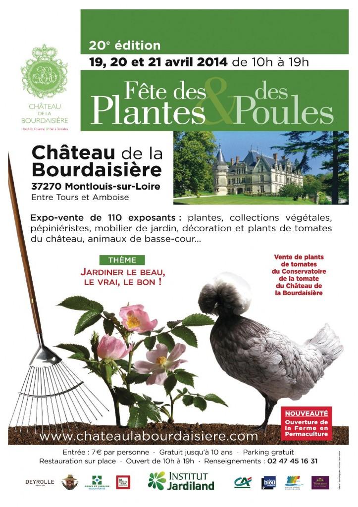 Fête des plantes et des poules à Montlouis sur Loire (37), du samedi 19 au lundi 21 avril 2014