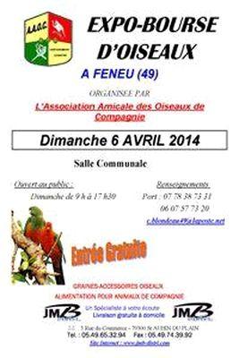 12 ème Exposition-Bourse d'oiseaux à Feneu (49), le dimanche 06 avril 2014