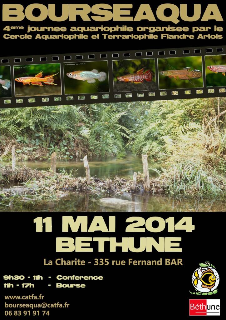 4 ème Bourse aquariophile « Bourseaqua » à Béthune (62), le dimanche 11 mai 2014