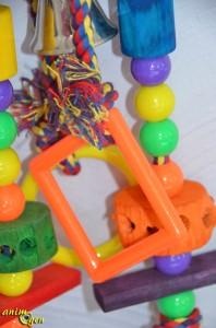 Jeu pour moyen et grand perroquet : jeu en corde, bois et plastique Taille 3 (Zolux)