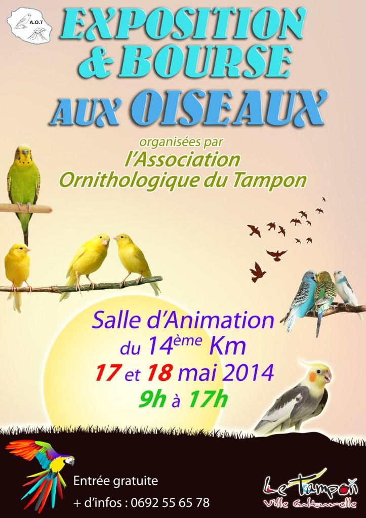 Exposition & Bourse aux Oiseaux à Tampon (île de La Réunion), du samedi 17 au dimanche 18 mai 2014