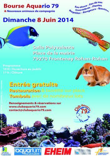 Bourse Aquario 79 & Nouveaux Animaux de Compagnie à Frontenay Rohan-Rohan (79), le dimanche 08 juin 2014