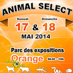 Salon des animaux « Animal Select » à Orange (84), du samedi 17 au dimanche 18 mai 2014