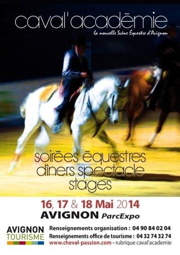 Caval'Académie en Avignon (84), du vendredi 16 au dimanche 18 mai 2014