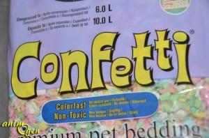 """Litière """"Confetti"""" pour rongeurs, oiseaux, furets, reptiles et lapins (Healthy Pet)"""