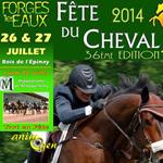 36 ème Fête du Cheval à Forges les Eaux (76), du samedi 26 au lundi 28 juillet 2014