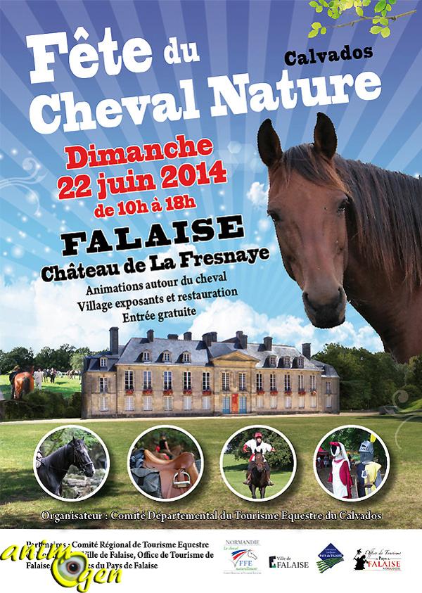 Fête du cheval nature du Calvados à Falaise (14), le dimanche 22 juin 2014