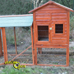 Clapier en bois Natura pour lapin, gros rongeur et furet (Trixie)
